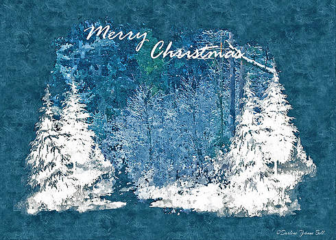 Darlene Bell - White Christmas Merry Christmas Greetings