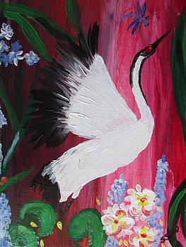 White Crane dances by Susan Voidets