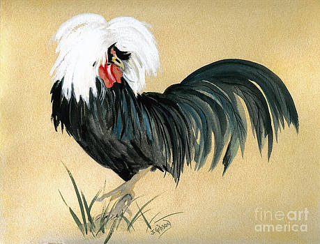 White Crested Rooster by Jan Gibson