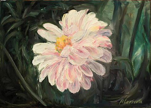 White dahlia by Marina Lavrova
