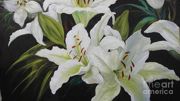 White DayLilies by Barbara Haviland