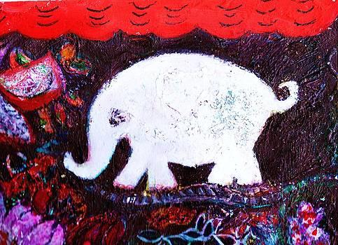 Anne-Elizabeth Whiteway - White Elephant Walking In a Mysterious Place