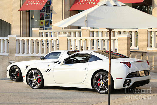 White Ferrari at the store by Nina Prommer