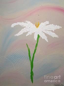 White Flower by Christal Kaple Art