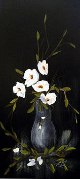 White Flowers In A Vase by Dorothy Maier