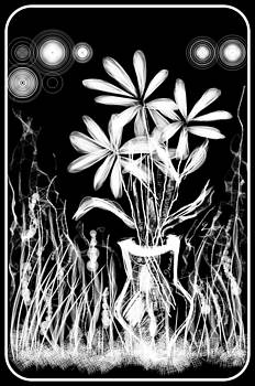 White Flowers by Mona  Bernhardt-Lorinczi
