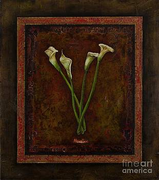 White Flowers by Sandra Dawson