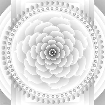 White Light Healing Mandala by Sarah  Niebank