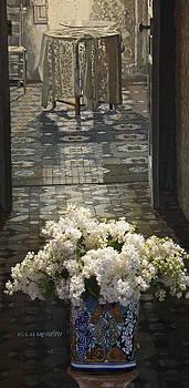 White Lilacs  by Carolyn Marchetti