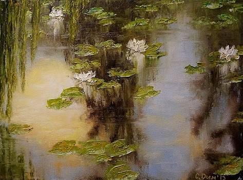 White lilies by Svetla Dimitrova