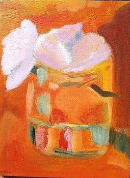 White on Orange by Molly Fisk