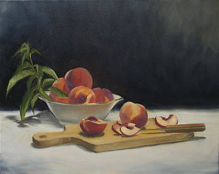 White Peaches by Roger Clark
