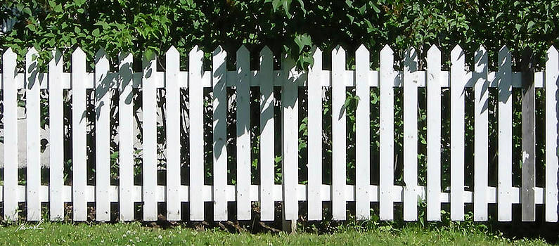 White Picket Fence 6 by The Art of Marsha Charlebois