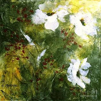 White Poppies IIl by Madeleine Holzberg
