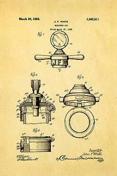 Ian Monk - White Radiator Cap Patent Art 1928