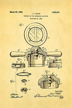Ian Monk - White Radiator Cap Patent Art 2 1928