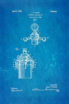 Ian Monk - White Radiator Cap Patent Art 3 1928 Blueprint