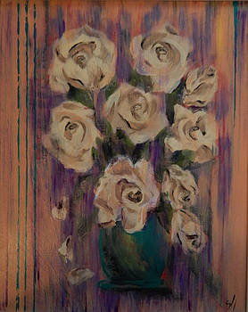 White Roses by Shirley Watts
