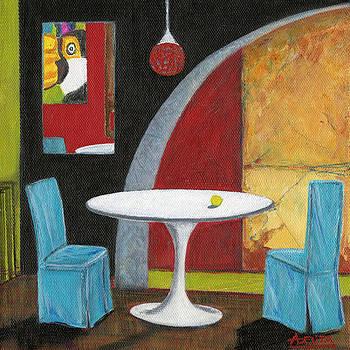 White Round Table by Adelita Pandini