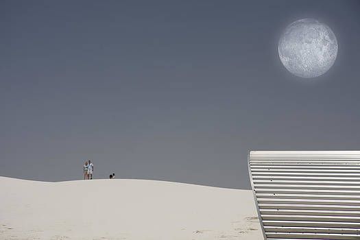 White Sands Moonrise by Bruce Rolff