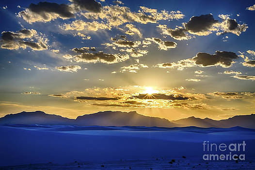 White Sands Sunset by Scotts Scapes