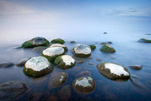 White stones in the water by Anna Grigorjeva