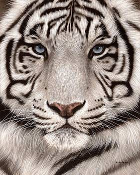 White Tiger Painting by Rachel Stribbling