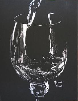 White Wine In Black and White by Michele Turney