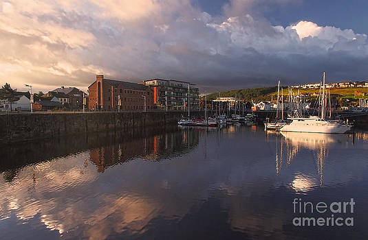Whitehaven Harbour Daybreak by Wobblymol Davis