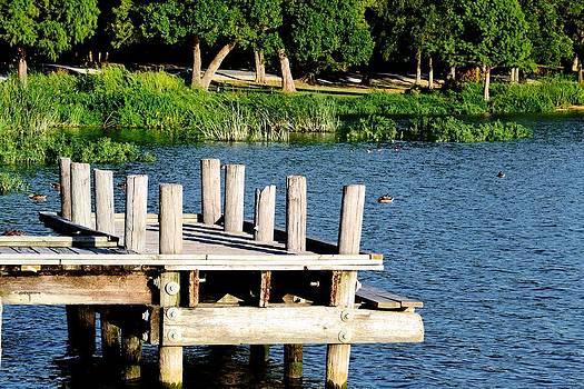 Whiterock Lake Pier by Brad Thornton