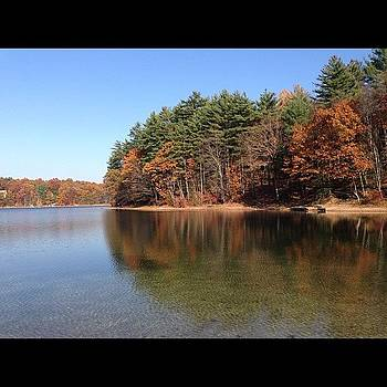 Whites Pond #foliage #iphone #water by Corey Sheehan