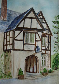 Whittington Inn - painting by Veronica Rickard