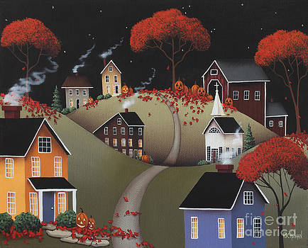 Wickford Village Halloween ll by Catherine Holman