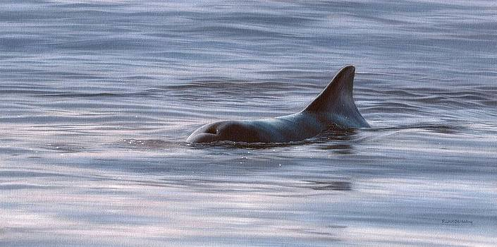 Wild Bottlenose Dolphin Painting - In Support of the Sea Shepherd Conservation Society by Rachel Stribbling