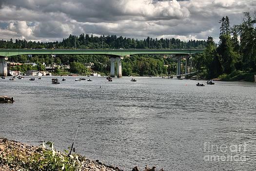 Willamette River Fishing by Katherine Karsten