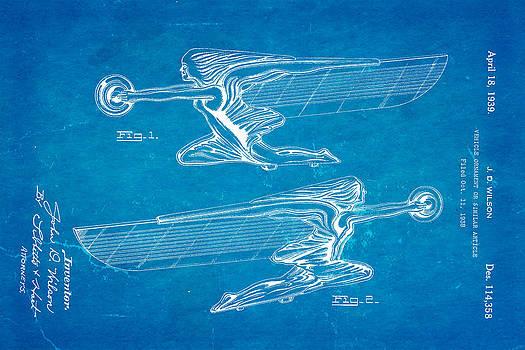 Ian Monk - Wilson Hood Ornament Patent Art 1939 Blueprint