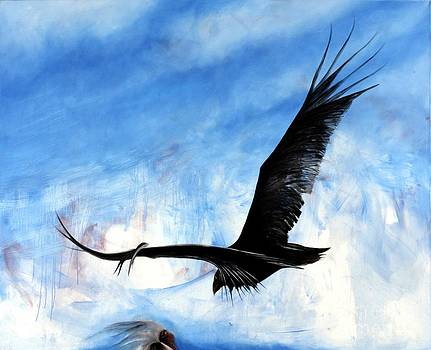 Wilu zopilote buzzard bird clean the earth by Ricardo Santos Hernandez