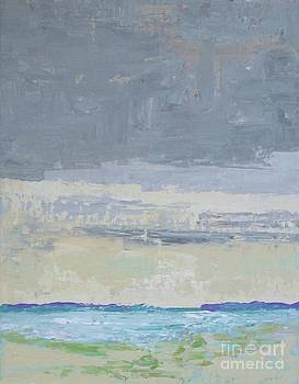 Wind and Rain on the Bay by Gail Kent