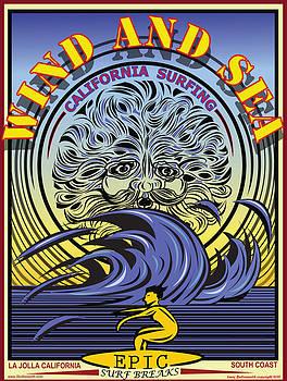 Larry Butterworth - WIND AND SEA LA JOLLA CALIFORNIA