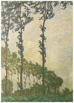 Claude Monet - Wind Effect Poplar Series