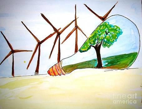 Wind mill n green environment... by Sonali Singh