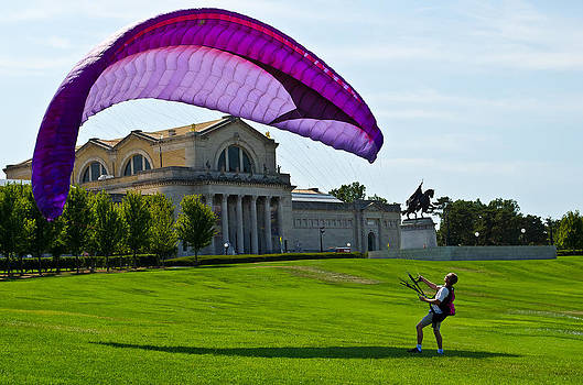 Wind Over the St. Louis Art Museum by Mindee Fredman