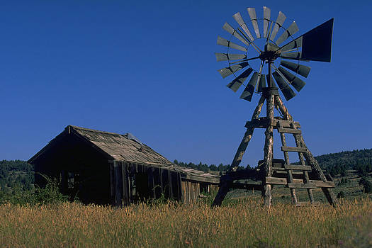 Windmill and Barn by Don Baccus