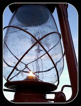 Windmill in a Lantern by Cindy New