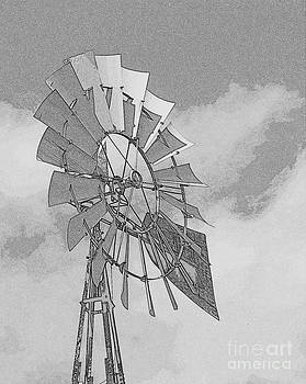 Windmill - pencil by Bren Thompson