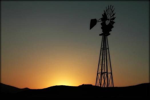 Windmill Sunset by Big Horn  Photography