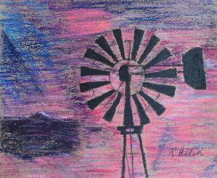 Windmill Sunset by Renee Helin