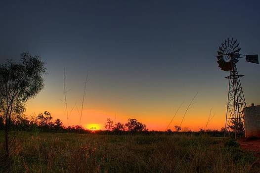 Windmill Sunset by Shane Dickeson