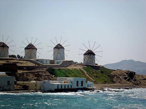 Julie Palencia - Windmills of Mykonos