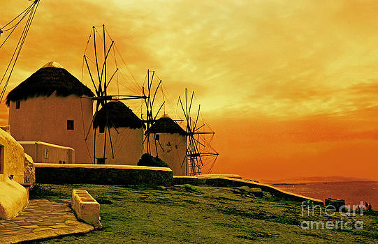Windmills Of Mykonos by Madeline Ellis